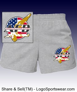 AFD Girls Shorts - Grey or white w text on back Design Zoom