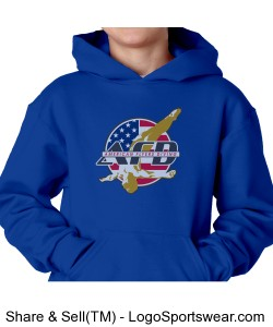 Youth AFD Plain Royal Hoodie Design Zoom