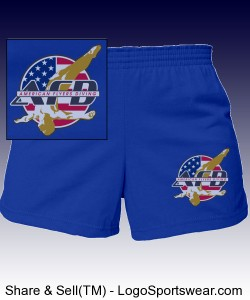 AFD Girls Shorts - Royal or any darker color w text on back Design Zoom